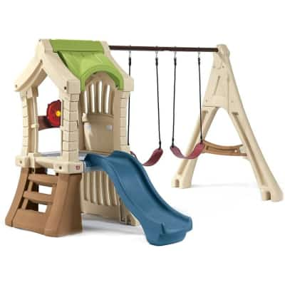 jungle gym and kids swing set